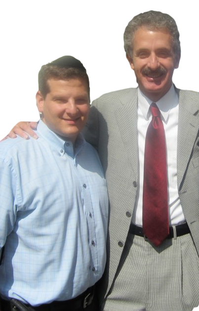 Ari Friedman with Los Angeles City Attorney Mike Feuer